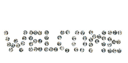rhinestones:  word  Welcome  made by ​​with rhinestones, Isolated on white background