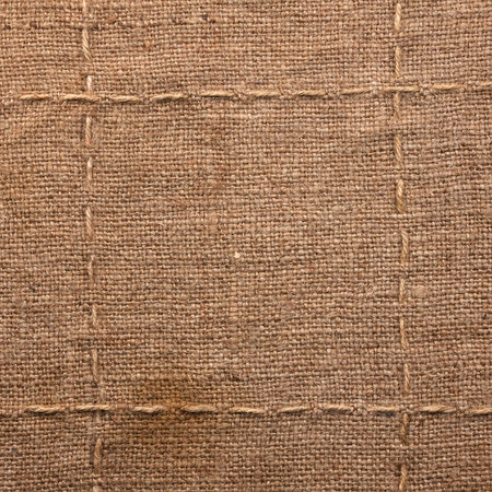 Seam on sackcloth, can be used as texture