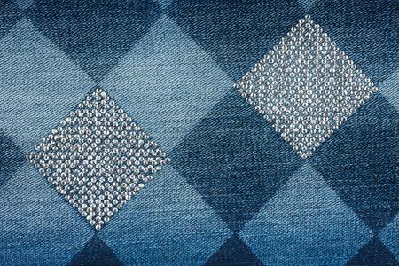 denim: De moda los pantalones vaqueros de fondo en pedrer�a textura