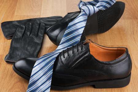 Beautiful male fashion background. Classic men accessories. Close-up Foto de archivo