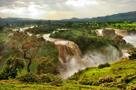青ナイルの滝、エチオピア、アフリカ