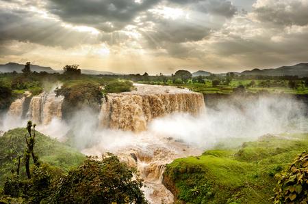 Blue Nile Falls, Tis Issat, Ethiopia, Africa 스톡 콘텐츠