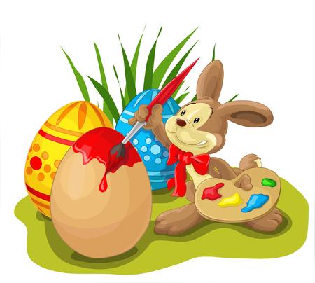 An easter bunny