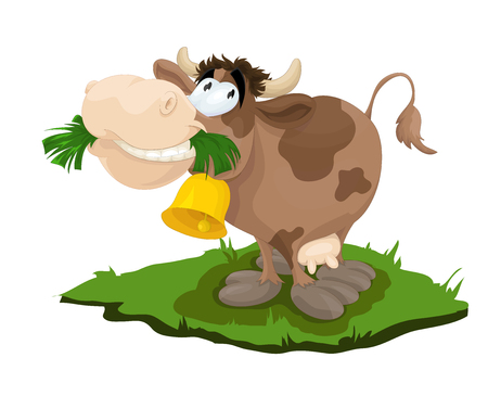 Happy Cow Illustration