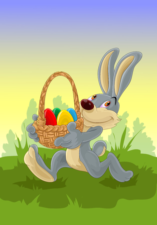 Easter bunny isolated on plain background