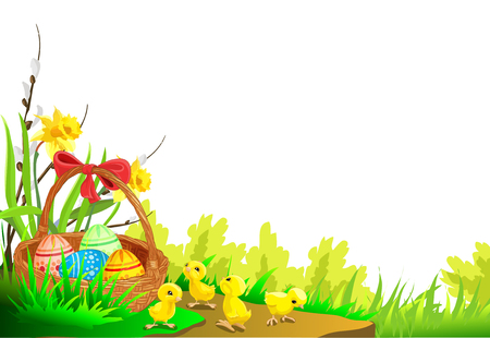Easter card isolated on plain background