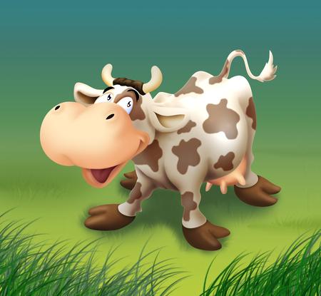 Happy Cow 스톡 콘텐츠