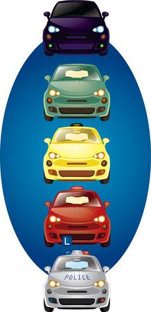 Set of vector cars illustration Vector