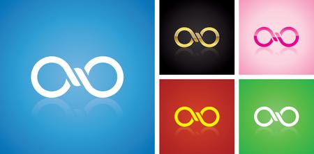 unendlich: Vector unendlich Logo-Design verschiedene Variablen