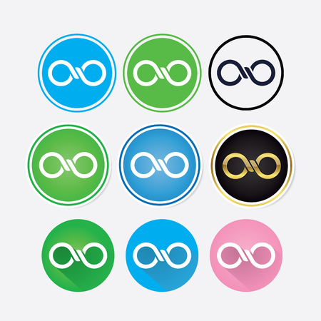 infinitely: Vector infinitely logo design different variables Illustration