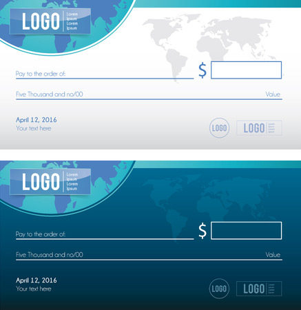 Bank check illustration design cheque vector