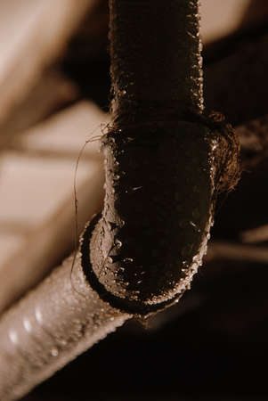 tube with water drops
