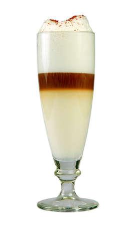 Milkshake in white backgorund