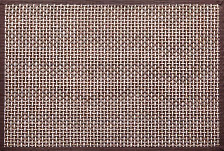 knitted white and brown decorative background with brown frame