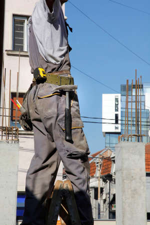 construction worker on building Standard-Bild