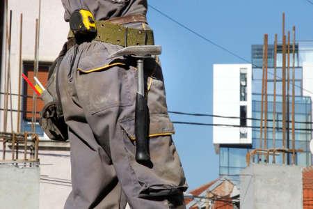 construction worker on building Standard-Bild