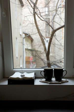 two cups of tea Standard-Bild - 150328694