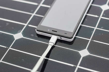 Solar Mobile Phone Chargers with mobile close-up