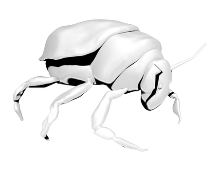 Bug ordinary. character. coloring. black and white image. Reklamní fotografie - 112056927