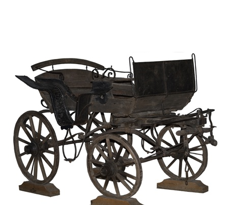 Cossack cart from Rostov-on-Don-is isolated on the white
