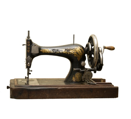 The sewing-machine zinger- izolated in white background