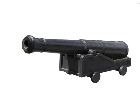 Gun of 17 centuries izolated in white background Stock Photo - 15939140