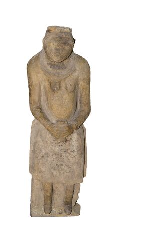 Sculpture of the woman-ancestor.Polovcy.12-13 centuries.Is isolated on the white Stock Photo - 15939195