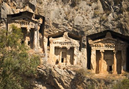 Likijsky tombs on the river Daljan, Turkey