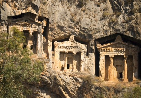 Likijsky tombs on the river Daljan, Turkey