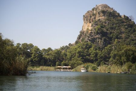 On river Dalyan,Turkey photo