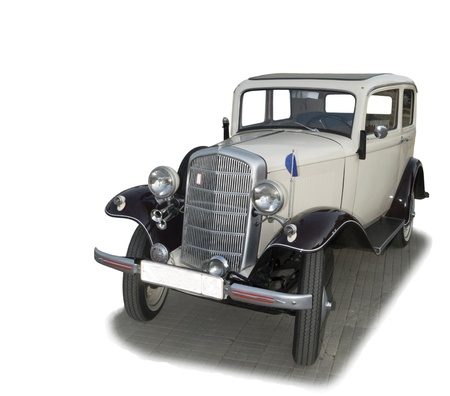 Vintage delivery vehicle - rare german Opel-admiral of 1938 of release-is isolated on the white