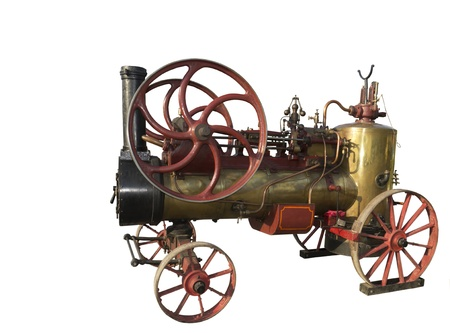 The French steam-engine of 1928 of release-is isolated on the white Stock Photo - 15939198