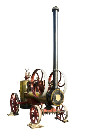 The French steam-engine of 1928 of release-is isolated on the white Stock Photo - 15939180