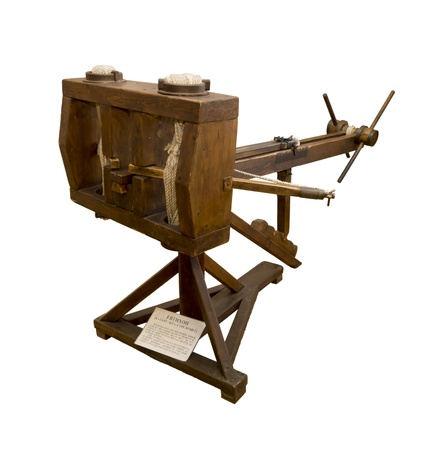 3rd century: Evtihon  catapult-strelomet  3rd century BC - an ancient weapon designed to defeat the enemy from a distance of 500 meters