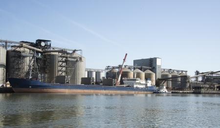 Grain port in Rostov-on-Don