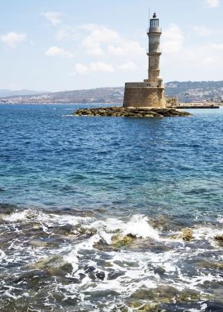 Beacon in Hanya, the island of Crete, Greece, June 2013