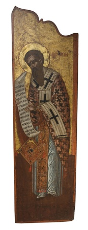 St Basil Ancient icon from monastery of the Panayia Kera Island of Crete  Greece