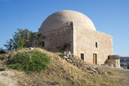 Mosque Ibrahim khan. Fortezzs fortress.Rethymno. Island of Crete. Greece Editorial