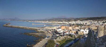 View of the city of Rethymno from Fortezzs fortress. Island of Crete. Greece photo