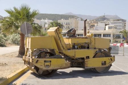 rethymno: Road- roller in Rethymno, Crete, Greece