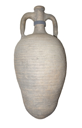 Amphora Wine of the 5th century-is isolated on the white