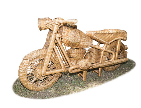 full size: Motorcycle woven from vines in full size