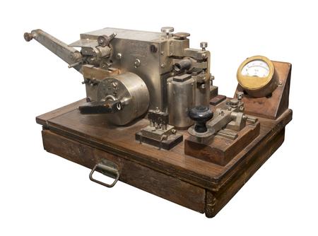 telegrama: Siglo Telegraph 19a - está aislada en el blanco Foto de archivo