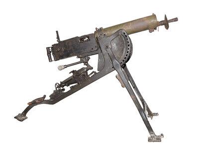 tripod mounted: Maxim machine gun mod. 1908. (MG-O8) - is isolated on the white
