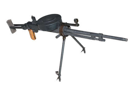 machine-gun: DT machinegeweer (Degtyarev tank) - geïsoleerd op wit