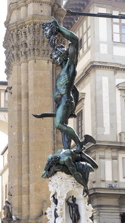 Benvenuto Cellinis Perseus with the Head of Medusa.Loggia dei Lanzi.Florence,Italy photo