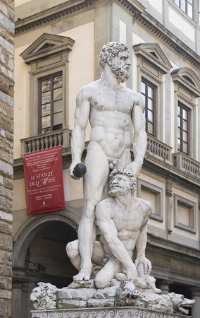 Sculpture of Hercules and Cacuc, Bandinelli.  photo