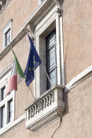 Balcone, che ha agito Benito Mussolini.Rome.Italy