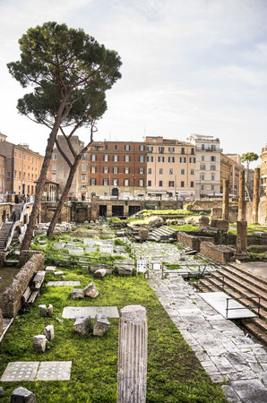 Roman Forum. Here there was the social life of the city. Rome. Italy