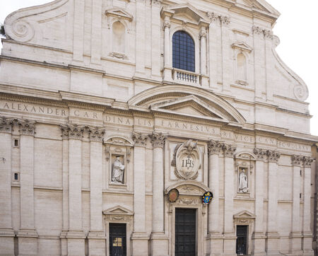 Church of the Holy Name of Jesus, the main Jesuit church in Rome. Italy